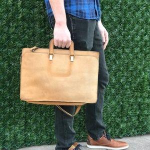 Vintage Natural Leather Briefcase Bag
